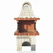 gratare gradina cu acoperis si cuptor