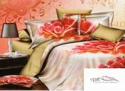lenjerii de pat 3d cu trandafiri