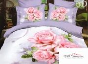 lenjerii de pat cu trandafiri