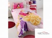 lenjerii de pat pentru fete cu printese