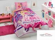 lenjerii de pat pentru fete roz cu barbie