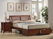 paturi din lemn cu lada