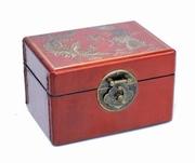 caseta bijuterii vintage din lemn