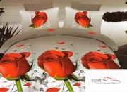 cuverturi de pat 3d cu trandafiri