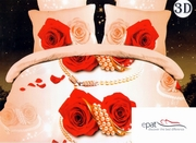 cuverturi de pat de dormitor cu trandafiri