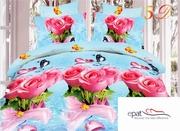 lenjerie de pat 3d cu trandafiri