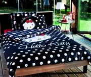 lenjerie de pat copii cu hello kitty