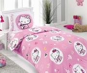 lenjerie de pat copii hello kitty