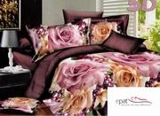 lenjerie de pat cu trandafiri ieftina
