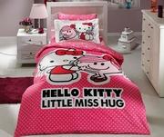 lenjerii de pat cu hello kitty ieftine