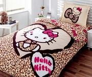 lenjerii de pat cu hello kitty