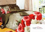 lenjerii de pat cu trandafiri rosii