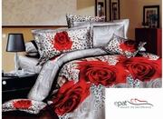 lenjerii de pat din bumbac cu trandafiri