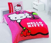 lenjerii de pat roz cu hello kitty