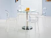 mese si scaune transparente de bar