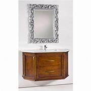 mobilier baie cu oglinda si chiuveta vintage