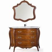 mobilier baie cu oglinda vintage