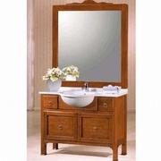mobilier baie vintage din lemn