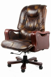 scaun birou piele alba
