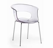 scaune bar transparente