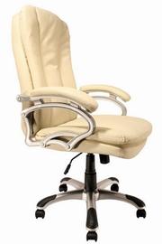 scaune birou piele crem