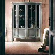 vitrine living din lemn cu sticla
