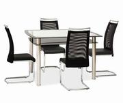 set masa de sticla cu scaune de bucatarie