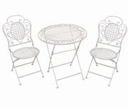 masa cu scaune din fier forjat