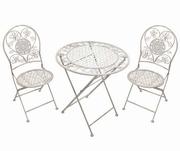 set masa cu scaune din fier forjat
