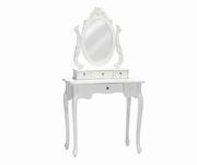 masa toaleta cu oglinda albe