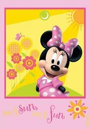 covor roz cu minnie mouse