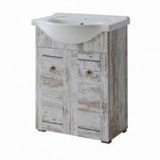 mobila baie lavoar pe blat lemn