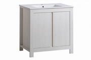 mobilier alb baie
