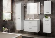 mobilier baie din lemn lucios