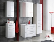 mobilier baie din mdf alb