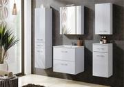 mobilier baie lemn alb lucios