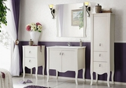 set mobilier baie alb lucios